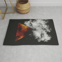 Triangle of Fire & Smoke Rug
