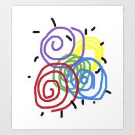 Children Flashback Art Print