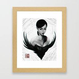 Lady in Black Framed Art Print