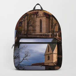 Monastery church of Blaubeueren Backpack