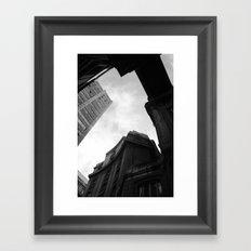 Through the city Framed Art Print