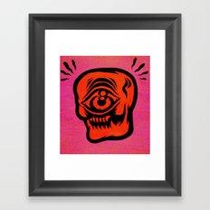 cyskull Framed Art Print