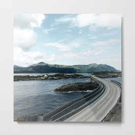 the atlantic road in Norway Metal Print
