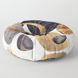 Abstract Pebbles III Floor Pillow