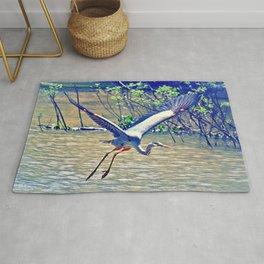Flying (Blue Heron) Rug
