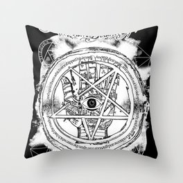 SDS   Esoteric hand Throw Pillow