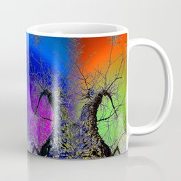 Psychedelic Rainbow Sky with Tree Coffee Mug
