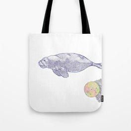 Space Manatee Tote Bag