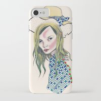 kate moss iPhone & iPod Cases featuring Kate Moss by Sindecualo