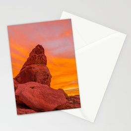 Balanced Rock Sunrise - Valley of Fire Stationery Cards