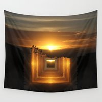 jazzberry Wall Tapestries featuring Catch a little sunrise and save it for a rainy day by Donuts