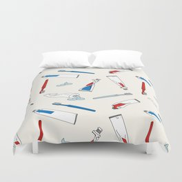 Toothpaste & Toothbrush Duvet Cover