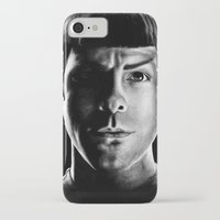 spock iPhone & iPod Cases featuring Spock by Sarah Riebe