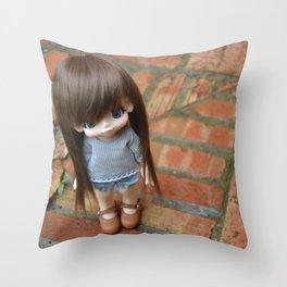 Mamiko - First look Throw Pillow