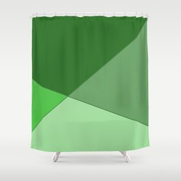Meeting Point Green Shower Curtain