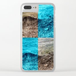 Two Tone Marine Clear iPhone Case
