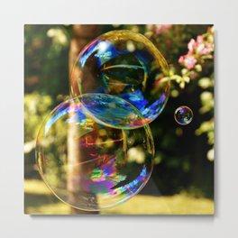 Bubbles   Bulles Metal Print