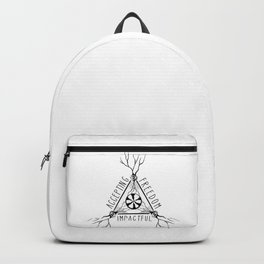 ACCEPTING - FREEDOM - IMPACTFUL Backpack