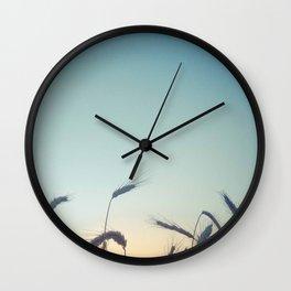 Summer of Straw Wall Clock