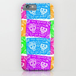 Day of the Dead Sugar Skull Papel Picado Flags iPhone Case
