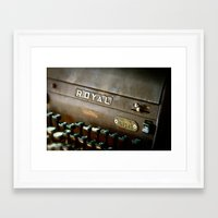 writer Framed Art Prints featuring Writer  by Rick Staggs