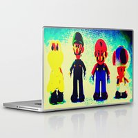 mario bros Laptop & iPad Skins featuring Super Mario Bros. by Silvio Ledbetter