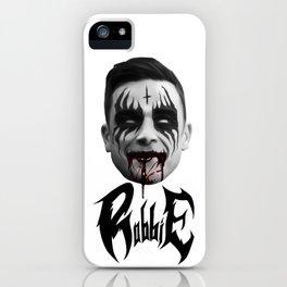 Black Metal Robbie iPhone Case
