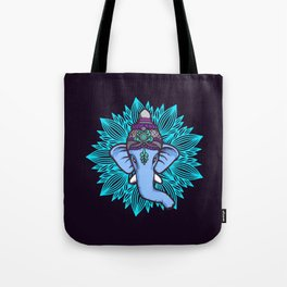 Wise Elephant Ganesha Mandala Tote Bag