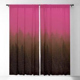 Pink & Chocolate Taffy Fog - Seward, Alaska Blackout Curtain