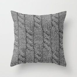 Knitting_031_by_JAMFoto Throw Pillow