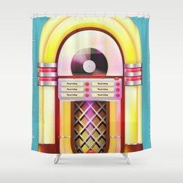 Vintage Jukebox Shower Curtain