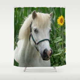 Horse and Sunflowers Shower Curtain