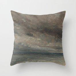 John Constable - Stormy Sea, Brighton Throw Pillow