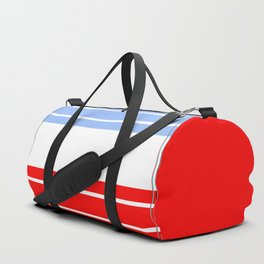 TEAM COLORS 9...Red,light blue, white Duffle Bag
