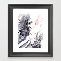 Black Swan Framed Art Print