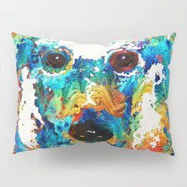 Colorful Poodle Dog Art by Sharon Cummings Pillow Sham