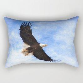 Bald Eagle Soaring In The Sky Rectangular Pillow