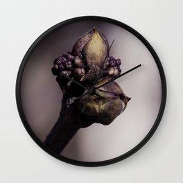 The Lilac Bud Wall Clock