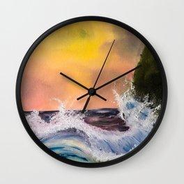 Dramatic Waves Wall Clock