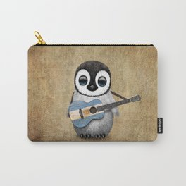 Baby Penguin Playing Argentine Flag Guitar Carry-All Pouch