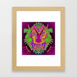Colorful Headache Framed Art Print