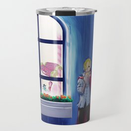SANJI in the rain | One Piece | Print | Painting Poster | Charlotte Pudding | 817 | ANIME | MANGA #A Travel Mug