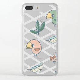 Cute bird pattern Clear iPhone Case