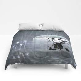 Sometimes it Pours (with background) Comforters