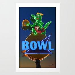 GatorBowl Bowling on the Treasure Coast Art Print