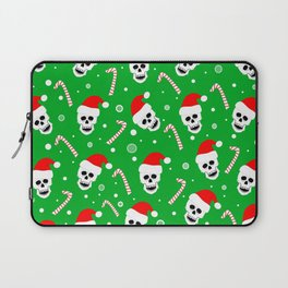 Skulls And Candy Canes Laptop Sleeve