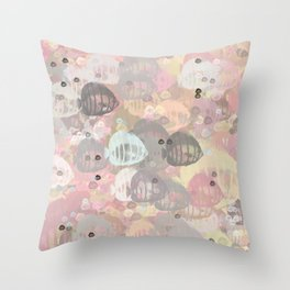 Fish Abstract Sea Life Throw Pillow