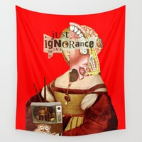 motivation Wall Tapestries featuring Mankind Motivation X by Marko Köppe