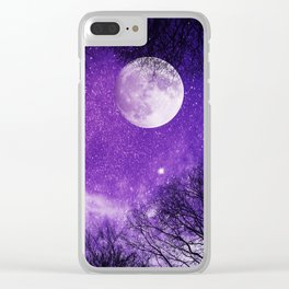 Nightscape in Ultra Violet Clear iPhone Case