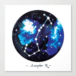 Scorpio Constellation Watercolour Canvas Print